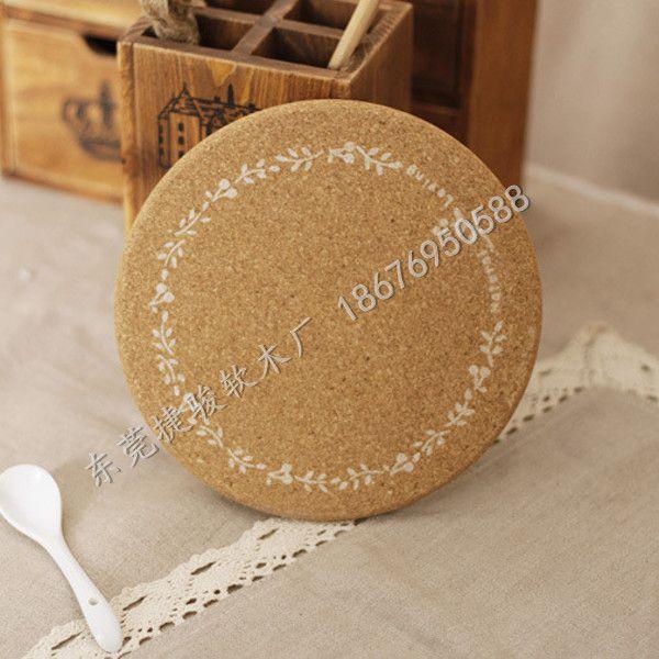 创意居家复古软木垫 软木餐具垫 家居环保隔热垫批发