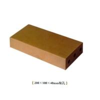 华蓉陶瓷-烧结砖-黄砖200X100X40mm有孔