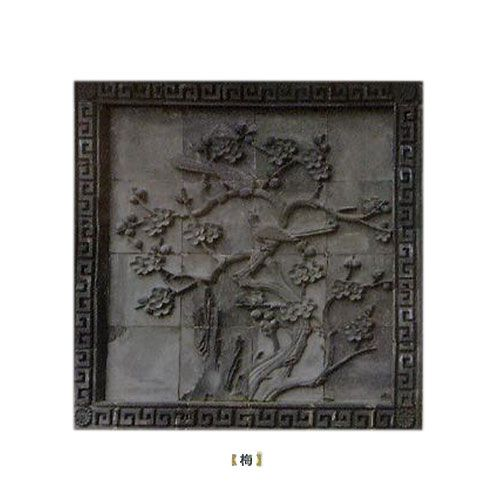 �A蓉陶瓷-�u雕梅花