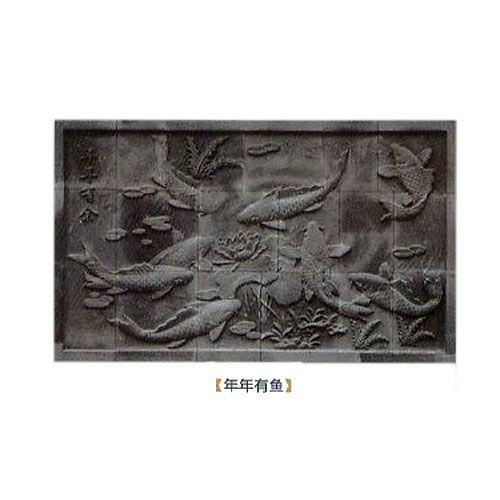 �A蓉陶瓷-�u雕年年有�~