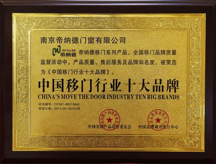 中国移门行业十大品牌
