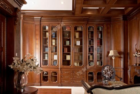 V定制——实木书柜