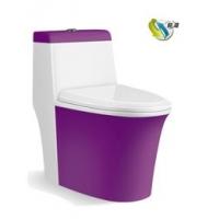 坐便器自洁釉白金紫
