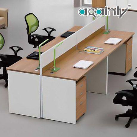 广鸿家具B 4人双向屏风隔断职员办公桌简约实木工作位