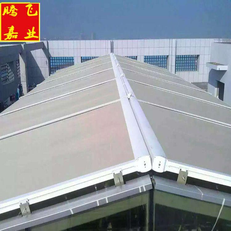 四惠桥天幕蓬天幕遮阳棚天幕帘玻璃房顶遮阳电动天幕帘