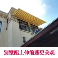 北京户外加厚铝合金伸缩遮阳雨棚固定遮阳棚曲臂式