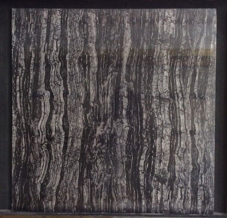 轩航陶瓷厂价直销-全抛秞 深色大理石-檀香木纹