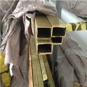 黄铜方管 国标C2800无缝黄铜管 装饰方通