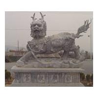 石雕麒麟 石狮子 石雕大象
