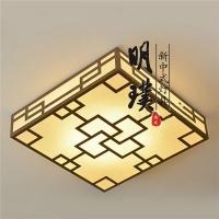 方形新中式吸顶灯定做 别墅茶室中式吸顶灯 中式铁艺吸顶灯品牌