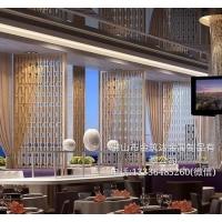 酒店钛金不锈钢隔断 亚博APP下载安装隔断工艺金属屏风