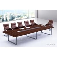 简单大气会议桌,实木贴木皮会议桌,浴谈桌
