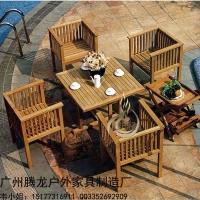 戶外實木桌椅陽臺實木桌椅實木碳化休閑桌椅戶外桌椅庭院整裝桌椅