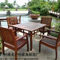 户外实木桌椅庭院休闲桌椅防腐木露天桌椅咖啡厅桌椅酒店实木餐桌