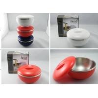 【畅销新品】日式双层不锈钢带盖餐碗R2098