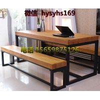 简易办公桌椅 美式loft风格休闲沙发