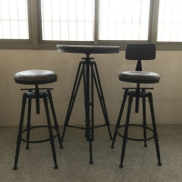吧台凳 酒吧铁艺复古升降高脚椅