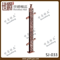 实用工程扁钢立柱 阁楼雕刻铝楼梯立柱 世爵铝合金立柱