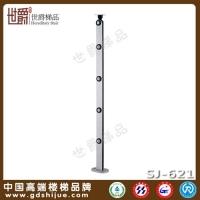 工程碳钢楼梯立柱 简约穿棒护栏立柱