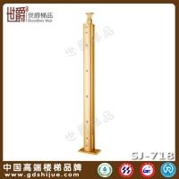 供应铝合金楼梯立柱 穿棒型护栏立柱 铝艺楼梯柱