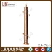 夹玻璃扶手栏杆 铝合金夹木材质 全实心配件打造