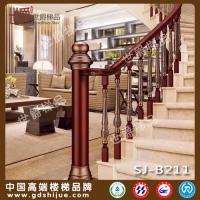 欧式别墅 铝合金酒店楼梯立柱 会所铝镶木扶手立柱