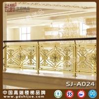 世爵 室内楼梯护栏 铜栏杆 别墅楼梯扶手 定制楼梯防护栏杆