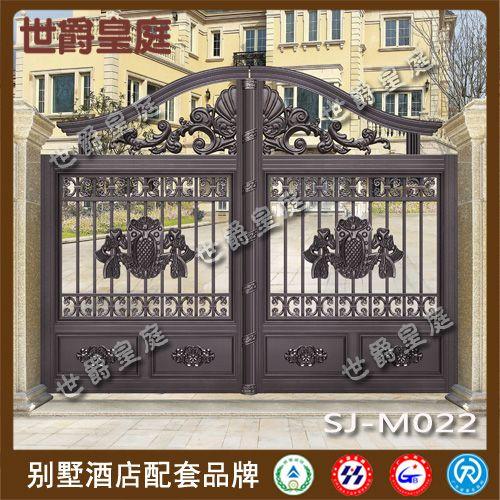 铸铝别墅雕花大门 欧式精雕庭院大门 铝艺防盗门