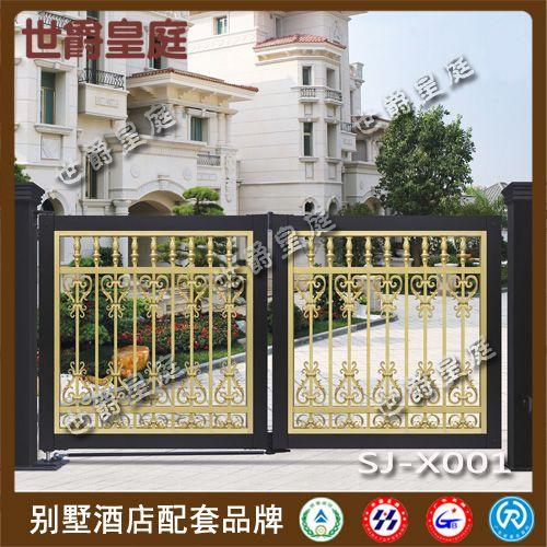 欧式悬浮折叠门 铝艺别墅悬浮门 铝合金庭院门