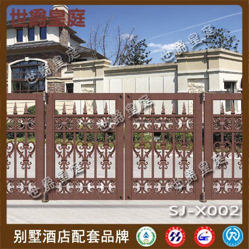 铝艺雕花折叠门 悬浮平移别墅大门 欧式庭院花园门