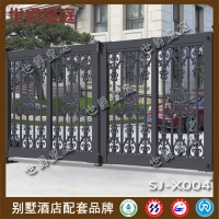 高档别墅悬浮折叠门 豪华庭院铝艺悬浮门