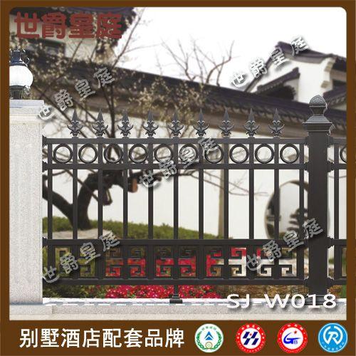 中式别墅铝艺围墙栏杆 花园庭院铝合金护栏图片