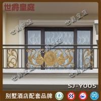 铝艺雕花阳台护栏 高档小区住宅铝合金阳台