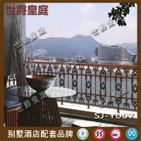 铝艺阳台护栏栏杆 欧式别墅酒店阳台护栏