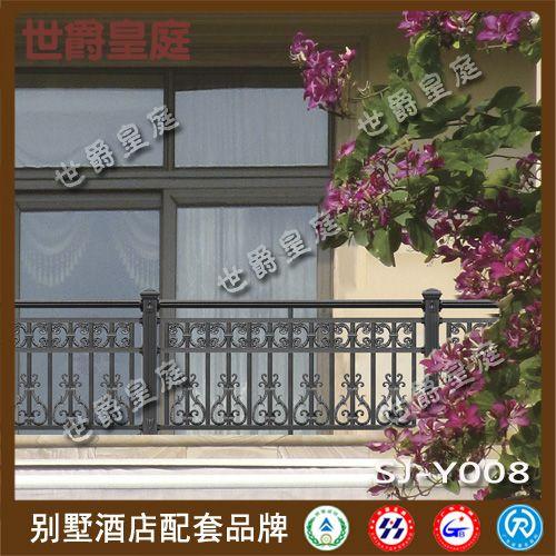 别墅铝合金阳台护栏 庭院别墅铝艺阳台栏杆