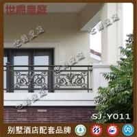 酒店阳台铝艺雕花栏杆 高档铝合金阳台护栏