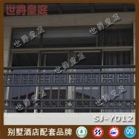 别墅小区铝艺阳台栏杆 中式铝合金阳台栏杆