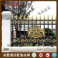 欧式铝艺雕花别墅护栏 花园庭院铝合金围栏