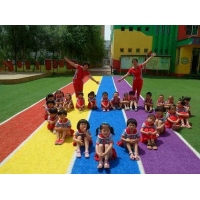 人造草坪施工  幼儿园操场人造草坪