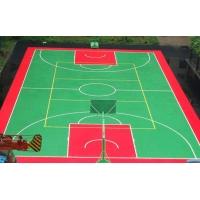 室外籃球場地懸浮拼裝地板