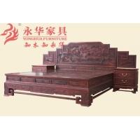 广作古典家具#山水楼阁大床 纹饰精美雕工精致细腻
