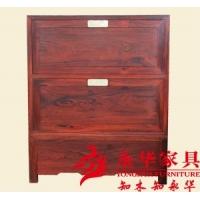【永华】大红酸枝素面独板画柜-纹理自然优美|造型庄重厚拙