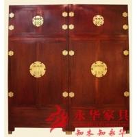 明式家具古典素面顶箱柜传统榫卯工艺#永华红木家具品牌