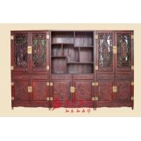 广州红木家具 红木柜酸枝木书房系列 加高书柜组