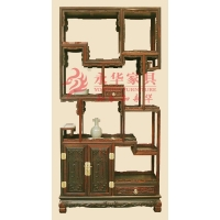 红木家具古董收藏之永华红木古董架 仿古酸枝木家具