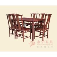 广东红木餐桌YH官帽餐台7件套 酸枝木家具餐厅系列