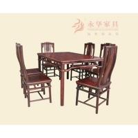 广东红木餐桌YH露角餐台&配套6把红木露角椅【永华】餐厅组合