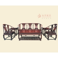 广东红木家具&中式古典红木沙发【永华】皇宫椅沙发
