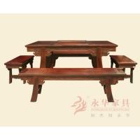汉式红木茶台 永华 中式仿古红木家具 红木餐台 餐厅系列