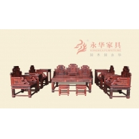 广州清式红木沙发@ 清式圆明园现代风【洋花宝座】永华家具